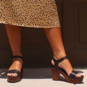 Steve Madden Luna Black Sandal Heels